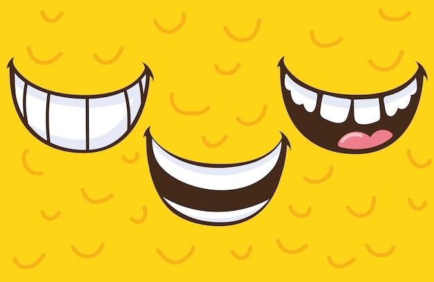 미소 입 세트