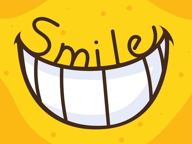 歯の笑顔のテキスト