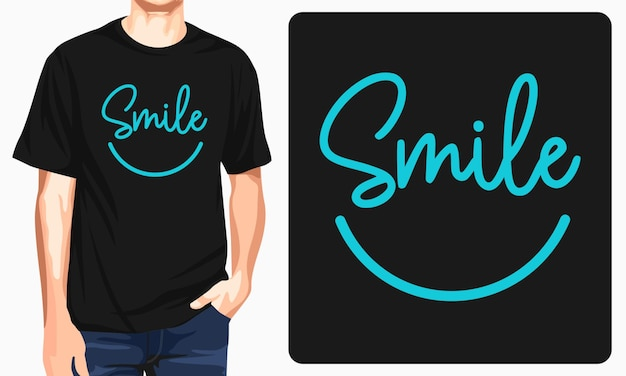 Smile typography graphic tees