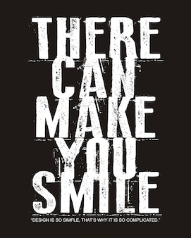 Smile typography for print t shirt