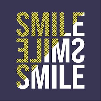 Типография улыбки с точечным стилем. простой дизайн слогана