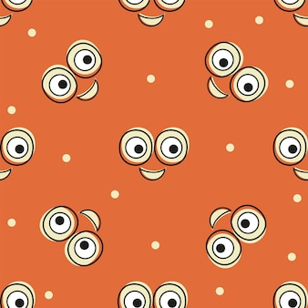 Smile vector pattern background. texture doodle art. funny simple illustration. for print, poster decor, textile, paper, card invitation