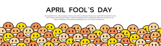 Smile yellow faces fool day april holiday