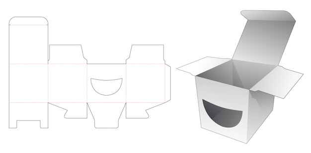 Шаблон квадратной коробки smile