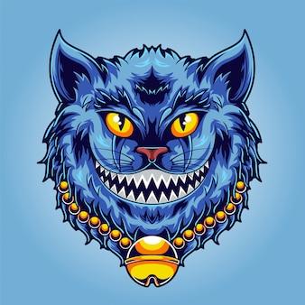 Smiley cat illustration