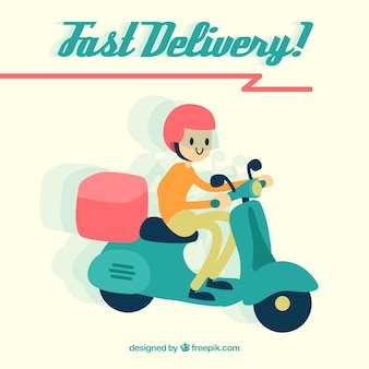 Smiley deliveryman with lovely style