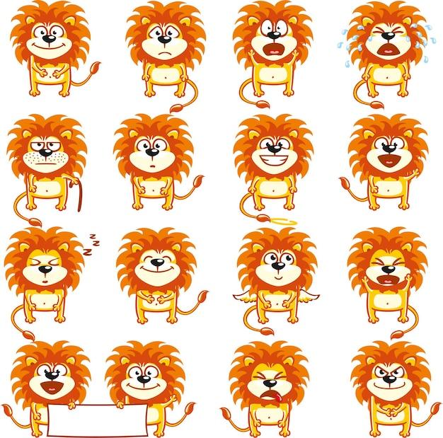 Смайлик львы эмоции