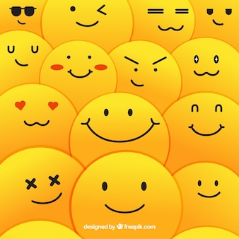 Sfondo di pattern di smiley