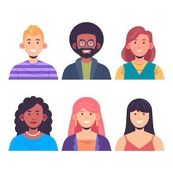スマイリーの人々の女性と男性の笑顔