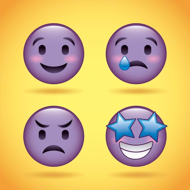 Smiley set emotions