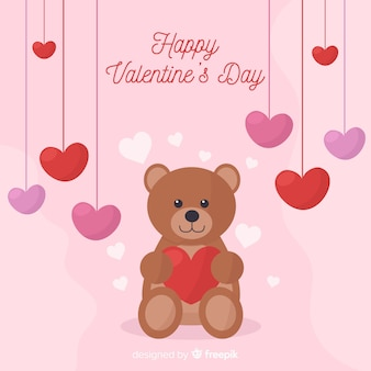 Fondo sorridente di san valentino dell'orso
