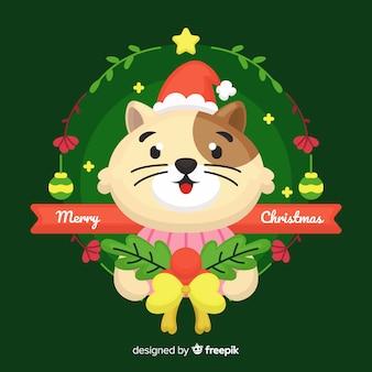 猫のクリスマスの背景