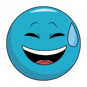 笑顔の顔文字を笑う プレミアムベクター