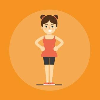 Smiling fitness girl doing exercise
