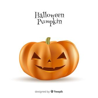 Smiling isolated halloween pumpkin