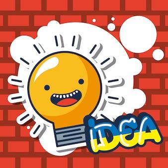 Illustrazione sorridente della lampadina