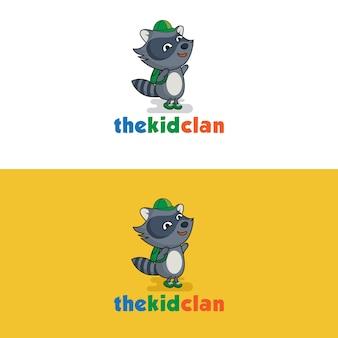 Smiling polecat kid logo