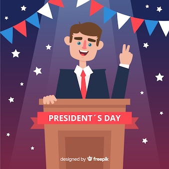 Smiling president president's day background