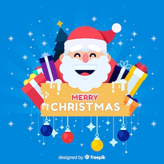 Smiling santa claus christmas background
