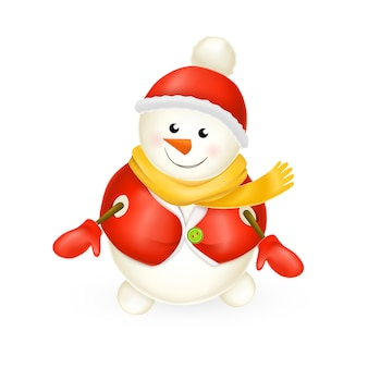 Sorridente pupazzo di neve