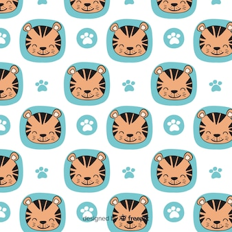 Smiling tiger pattern