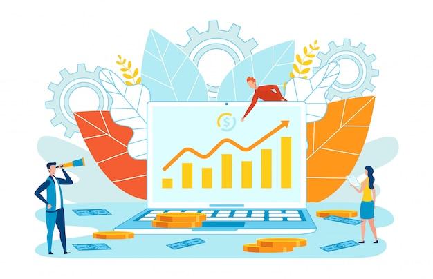 Информационный плакат рост анализа smm flat.