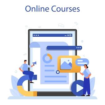 Иллюстрация онлайн-сервиса или платформы smm