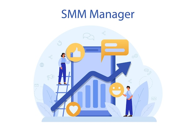 Smm social media marketing concept
