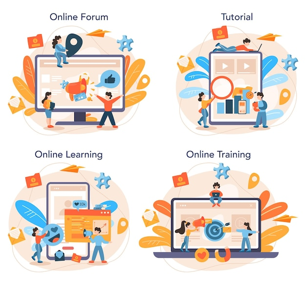 Smm specialist online service or platform set