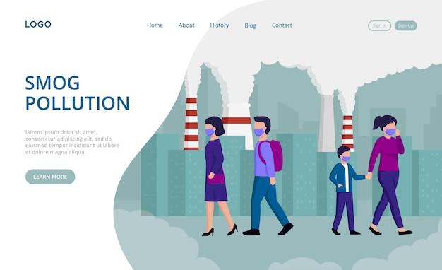 Smog pollution landing page