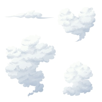 연기와 구름 벡터