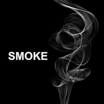 煙の背景。