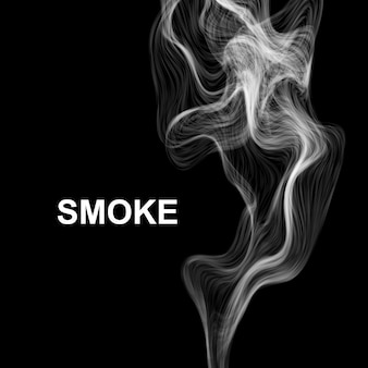 Smoke on black.