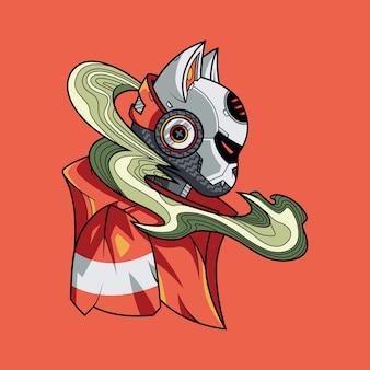 Дым кот иллюстрация