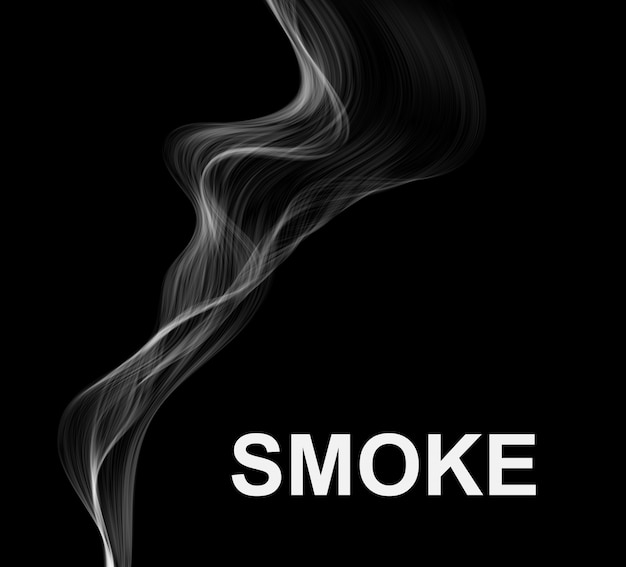 Smoke dark background.