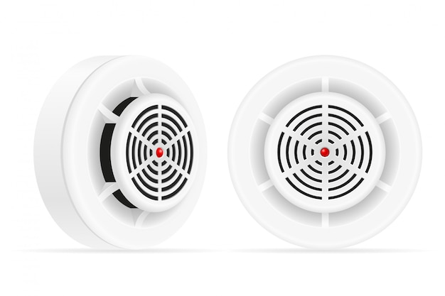 Smoke detector fire and gas home security system