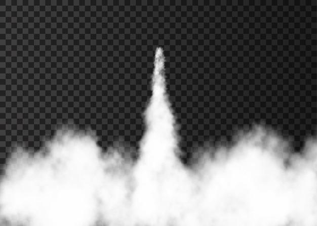Дым от запуска космической ракеты.