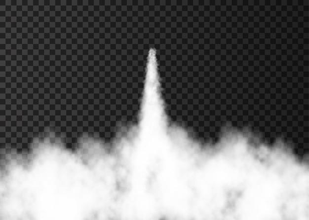 우주 로켓 발사로 인한 연기