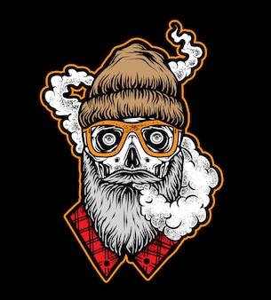 Smoke lumberjack skull