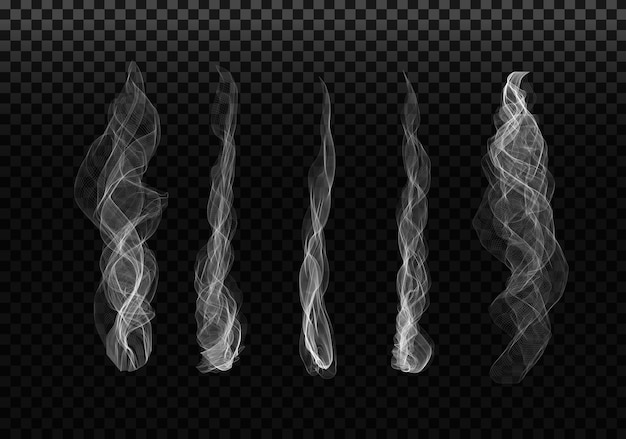 Smoke sets on transparent background