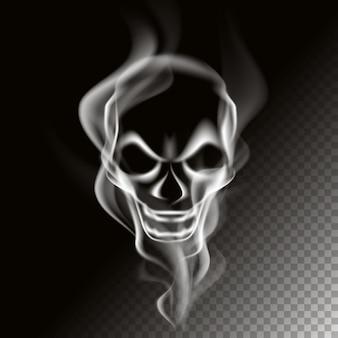 Smoke in skull shape