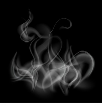 Smoke template background isolated and transparent