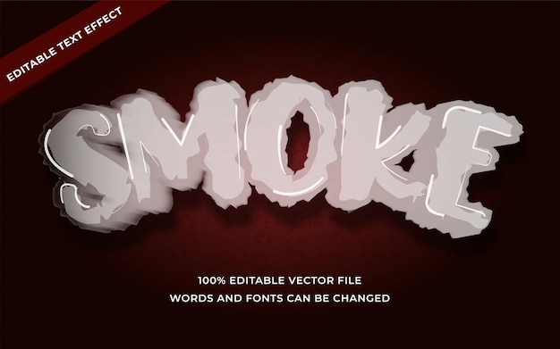 Smoke text effect editable for illustrator