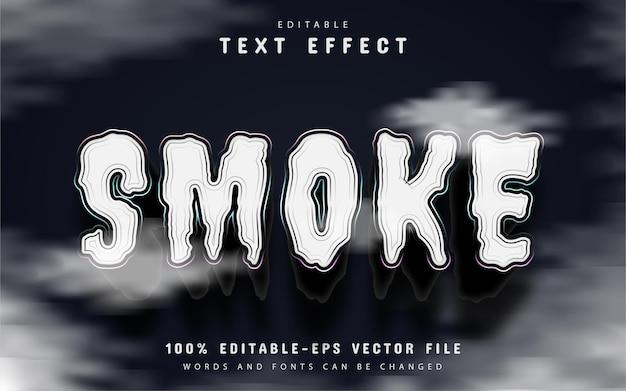 Smoke text effect editable