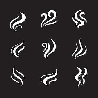연기 벡터 아이콘 디자인 일러스트 템플릿