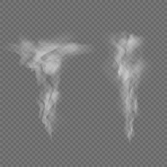 Smoke waves isolated on transparent