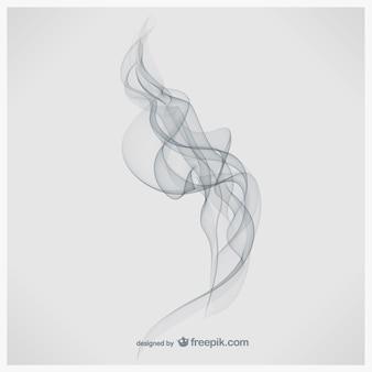 흰색 배경 연기