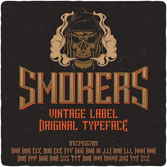 Smokers label typeface
