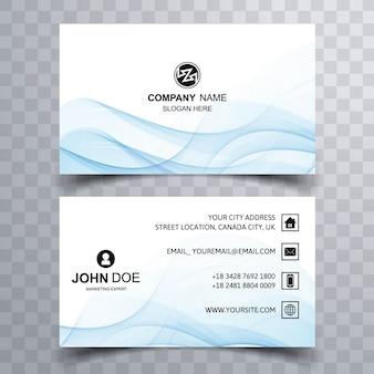 Smokey light blue business card