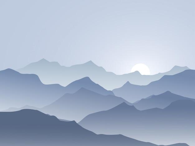 スモーキー山の日の出の風景